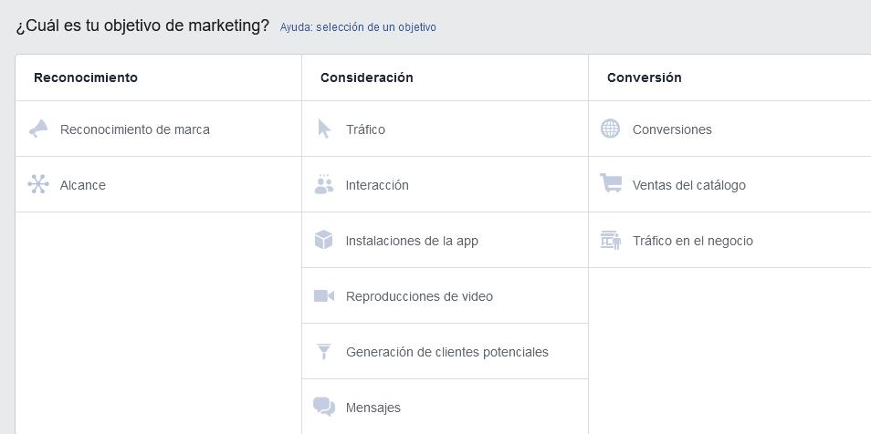 Facebook ads objetivos marketing messenger